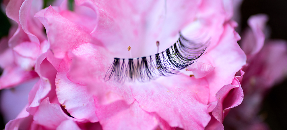 lashes and flowers